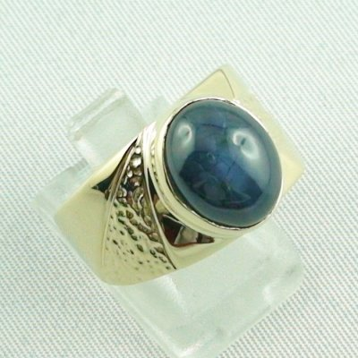 15.66 gr sapphirering, 14k goldring, man ring with star sapphire, pic6