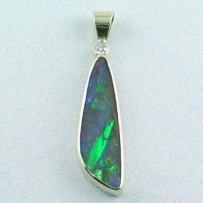 opalpendant, gold pendant 14k with boulder opal 5.35 ct, pic1