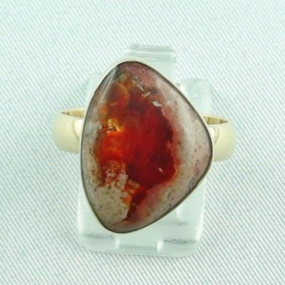 Opalring, 14k goldring, ladies ring with fire opal, pic1