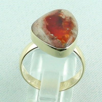 Opalring, 14k goldring, ladies ring with fire opal, pic4