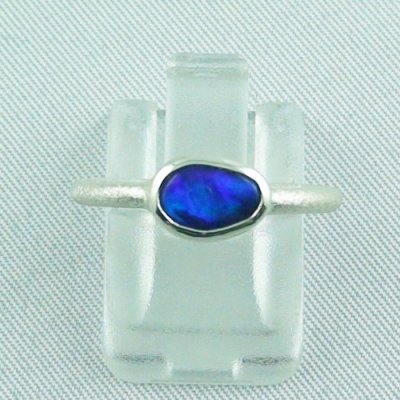 2.32 gr opalring, 925 silverring opal, ladies ring black opal, pic1