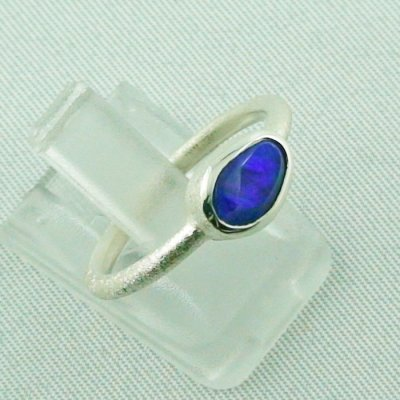 2.32 gr opalring, 925 silverring opal, ladies ring black opal, pic6