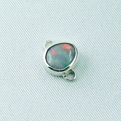2,41 gr opalpendant, silver pendant 935 with semi black opal 1,14 ct, pic1