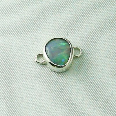 2,41 gr opalpendant, silver pendant 935 with semi black opal 1,14 ct, pic4