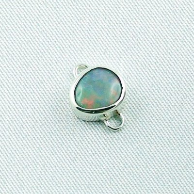 2,41 gr opalpendant, silver pendant 935 with semi black opal 1,14 ct, pic5