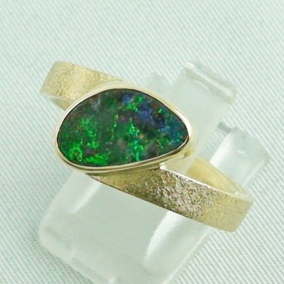 9.70 gr opalring, 14k goldring, ladies ring with boulder opal, pic2