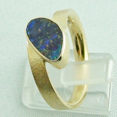9.70 gr opalring, 14k goldring, ladies ring with boulder opal, pic3