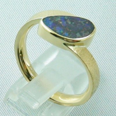 9.70 gr opalring, 14k goldring, ladies ring with boulder opal, pic5
