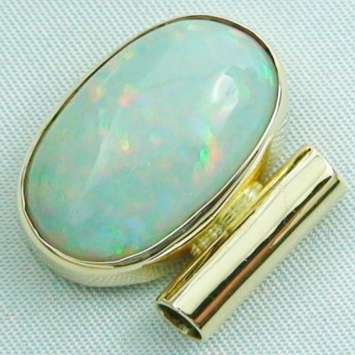 6,96 gr opalpendant, gold pendant 14k with Welo Opal, diamond, pic3