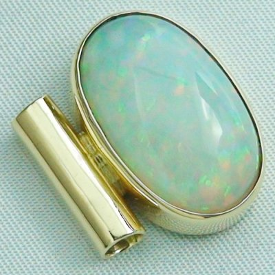 6,96 gr opalpendant, gold pendant 14k with Welo Opal, diamond, pic5