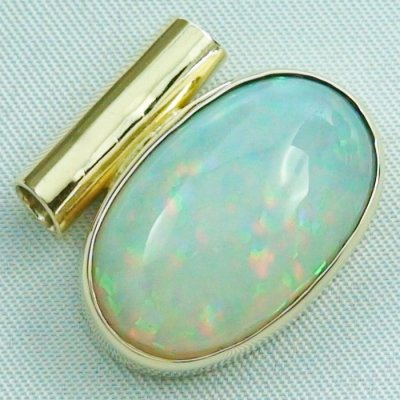 6,96 gr opalpendant, gold pendant 14k with Welo Opal, diamond, pic6