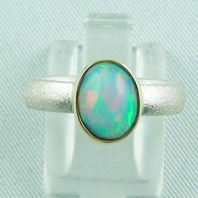 4.77 gr opalring, silverring with Welo opal 1.60 ct, ladies ring, pic1