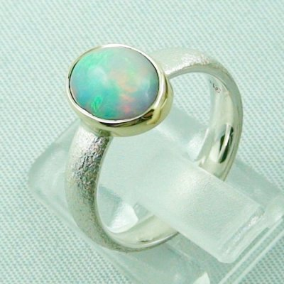 4.64 gr opalring, silverring with Welo opal 1.45 ct, ladies ring, pic3