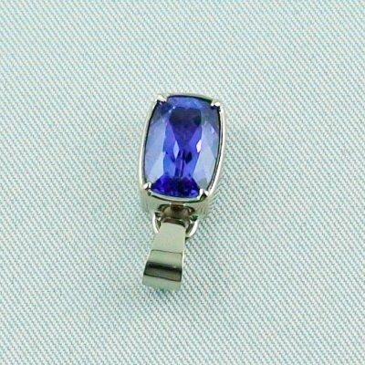 3.07 grams. palladium white gold pendant 18k with tanzanite 3,06 ct, pic4