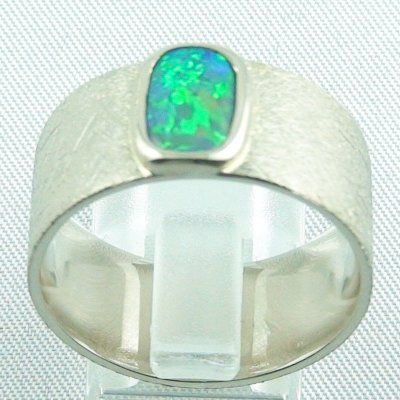 17.79 gr opalring, whitegoldring with Black Crystal Opal 1,34 ct, men's ring, pic4