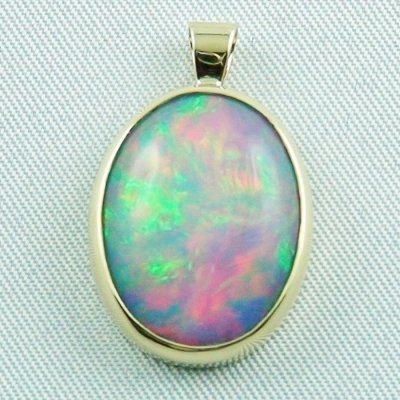 4.58 gr opalpendant, gold pendant 18k with Welo Opal, pic1