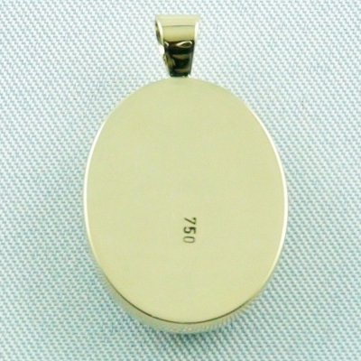 4.58 gr opalpendant, gold pendant 18k with Welo Opal, pic7