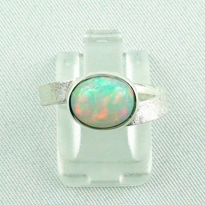3.87 gr opalring, silverring with Welo opal 1.69 ct, ladies ring, pic1