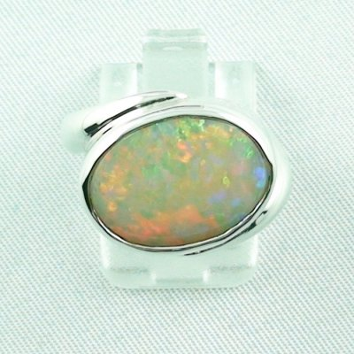 6.33 gr opalring, silverring with white opal, ladies ring, pic1