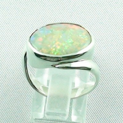 6.33 gr opalring, silverring with white opal, ladies ring, pic4