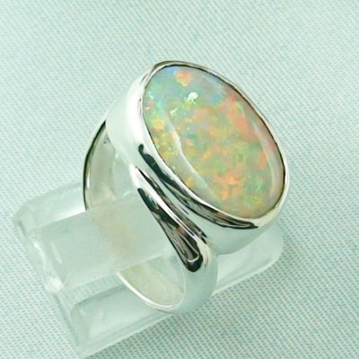 6.33 gr opalring, silverring with white opal, ladies ring, pic5