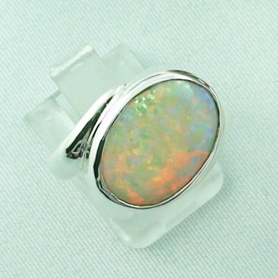 6.33 gr opalring, silverring with white opal, ladies ring, pic6