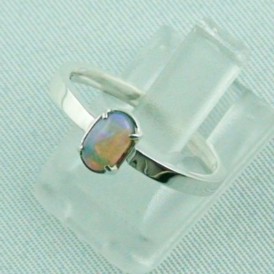Opalring, designer ring, 0.39 ct Top Black Crystal Opal, pic2