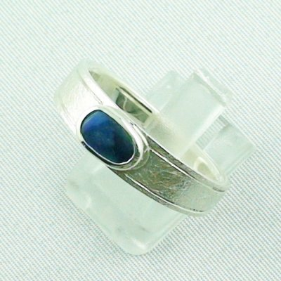 ❤️7.52 gr opalring, silverring with black opal 0.91 ct, men's ring, pic2