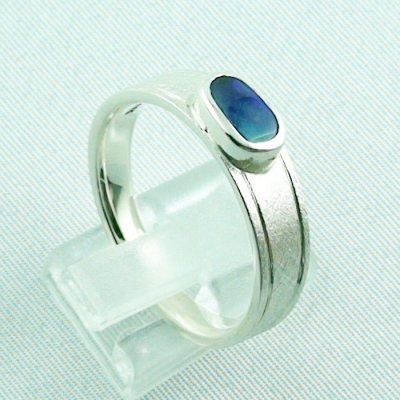 ❤️7.52 gr opalring, silverring with black opal 0.91 ct, men's ring, pic5