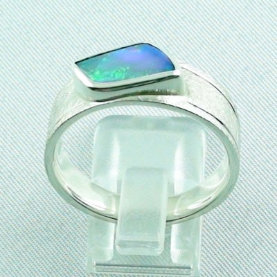 ❤️Opalring, designer ring, 1.77 ct Top Black Crystal Opal, pic4