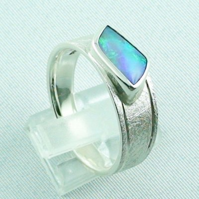 ❤️Opalring, designer ring, 1.77 ct Top Black Crystal Opal, pic5