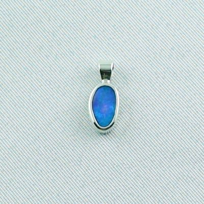 ❤️0.81 gr. opalpendant, silver pendant 935, black crystal opal 0.62 ct, pic1