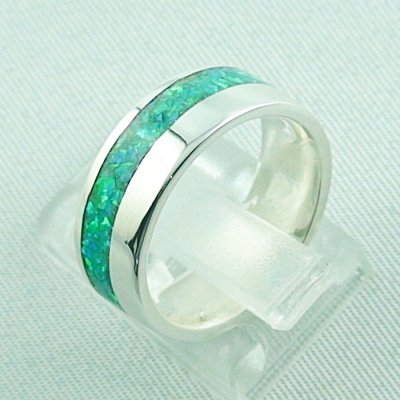 5,63 gr Silberring, Opal Inlay Emerald Green, Damenring, Bild3