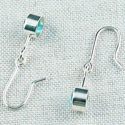 2,46 gr blue topaz earring, earrings 935 silver, pic3