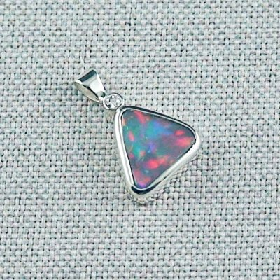 1.35 gr Opal-Pendant Silver 935 Black Opal and Diamond, pic6