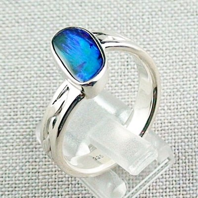 ❤️8.92 gr opal ring, silver ring, boulder opal 3.24 ct, men's ring, pic3