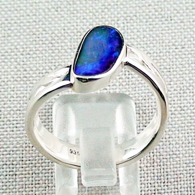 ❤️8.92 gr opal ring, silver ring, boulder opal 3.24 ct, men's ring, pic4