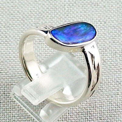 ❤️8.92 gr opal ring, silver ring, boulder opal 3.24 ct, men's ring, pic5