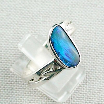 ❤️8.92 gr opal ring, silver ring, boulder opal 3.24 ct, men's ring, pic6