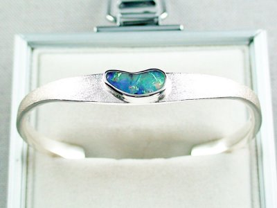 27.02 gr bangle silver 935 with Boulder opal 3.26 ct, pic4