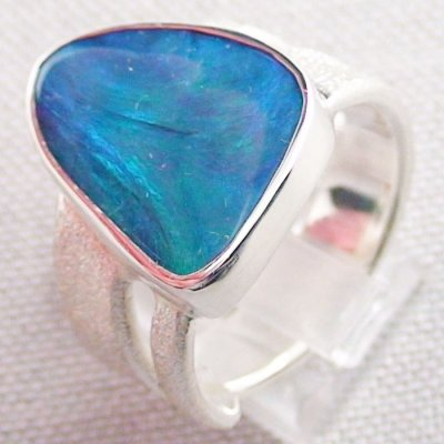 ❤️15.34 gr Opalring, Silverring with Black Opal 1,20 ct, Men's Ring, pic3