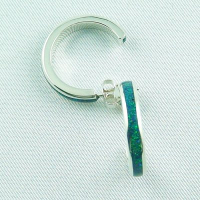 configure your Opal Inlay 3/4 Creoles in 935 silver, pic1
