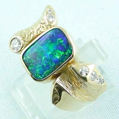 22.65 gr. opalring, 18k / 750 goldring with boulder opal 5.52 ct, pic2