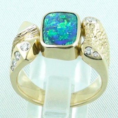 22.65 gr. opalring, 18k / 750 goldring with boulder opal 5.52 ct, pic4