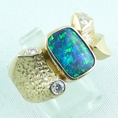 22.65 gr. opalring, 18k / 750 goldring with boulder opal 5.52 ct, pic6