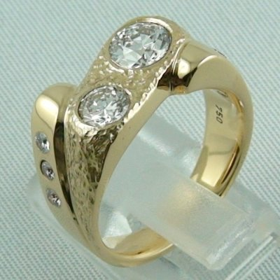 Herrenring Diamantring 750er Gelbgoldring 18k 1.74 ct Diamanten, Bild3