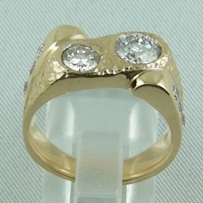 Herrenring Diamantring 750er Gelbgoldring 18k 1.74 ct Diamanten, Bild4