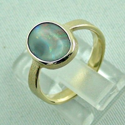 4.06 gr. opalring, 14k gold ring with opal, 1.49 ct semiblackopal, pic3