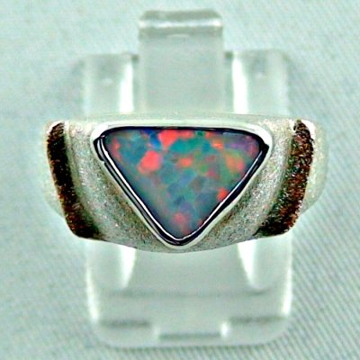 1.05 ct opalring, 9.93 gr silverring, white opal, ladies ring, pic1