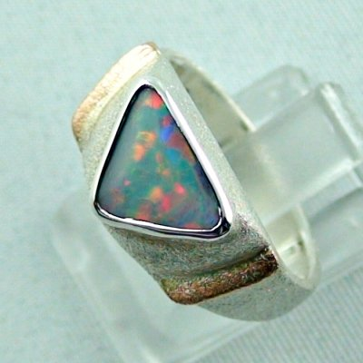 1.05 ct opalring, 9.93 gr silverring, white opal, ladies ring, pic2